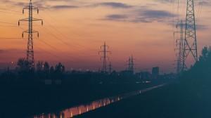 night-sky-sunset-power-lines